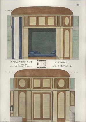 Appartement de Mr. B. Cabinet de Travail