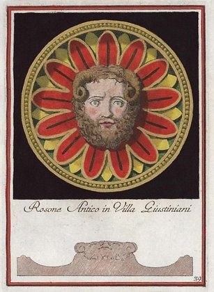 Rosone Antico in VIlla Giustiniani