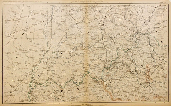 Civil War Map of the Central United States