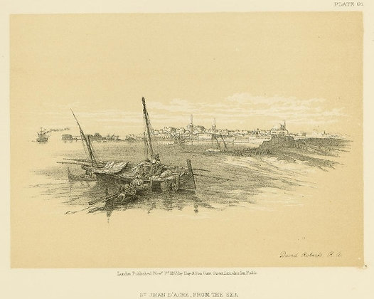 Plate 66 : St. Jean D'Acre, from the Sea