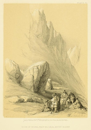 Plate 111: Rock of Moses, Mount Horeb