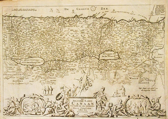 Dutch Map of Canaan / The Promised Land