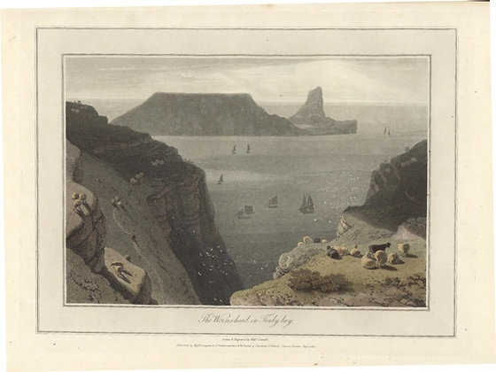 Plate 14: The Worms-head in Tenby bay