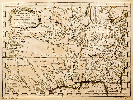 Carte de la Floride, de la Louisiane