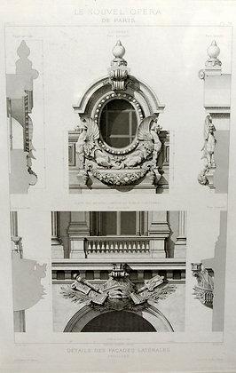 Details des Facades Laterales, Pavillons Le Nouvel