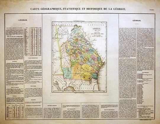 Carte Geographique de la Georgie