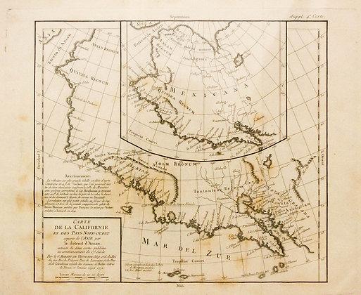Carte de la Californie et des Pays Nord-Ouest