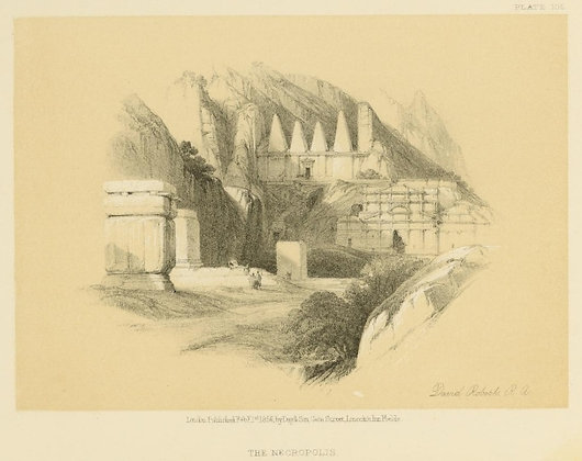 Plate 105 : The Necropolis