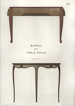 Bureau et Table Ovale