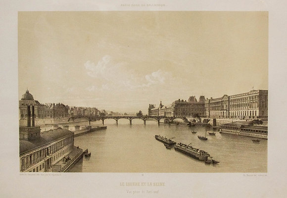 Le Louvre et la Seine.