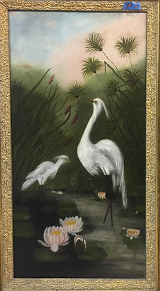 Egrets and Lillies