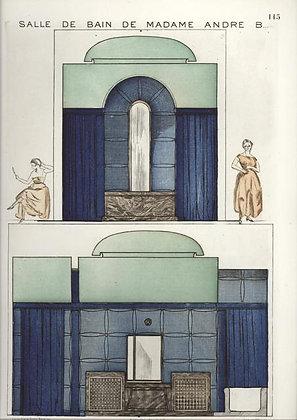 Plate 115: Salle de Bain de Madame Andre B