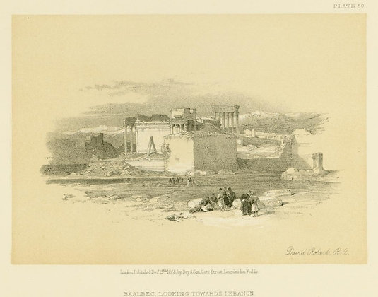 Plate 80 : Baalbec Looking Towards Lebanon