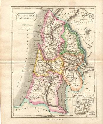 Palestina Antiqua (w/ inset of Jerusalem)