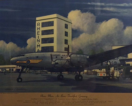 """Lockheed C-121-A """"Constellation"""" : Rhein-Main AB"""