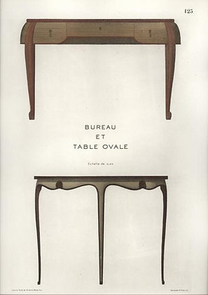 Plate 125: Bureau et Table Ovale