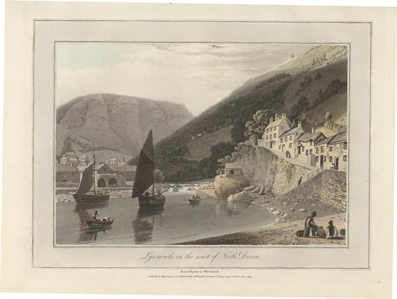 Plate 10: Lynmouth on the coast of North Devon