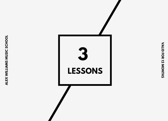 Gift Voucher - 3 Lessons