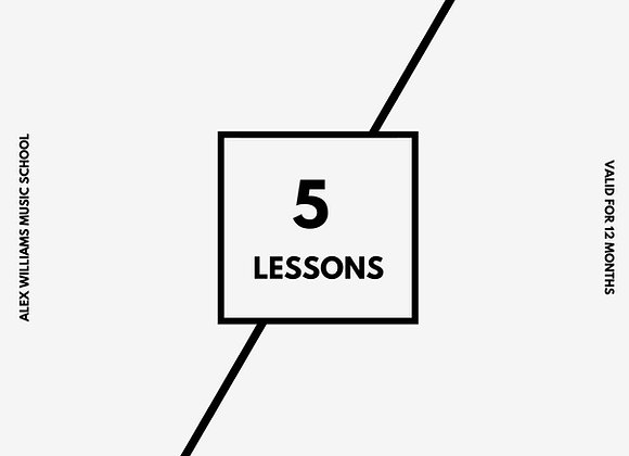 Gift Voucher - 5 Lessons