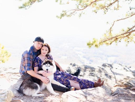 Jonathan & Angela + Shasta | Pilot Mountain, North Carolina |
