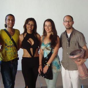 With bellydancer Randa Kamel