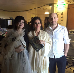 With the singers Sapho and Aîcha Redouane