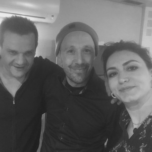 With the great composer Tarik Benouarka and the amazing Racha Rizk