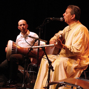 With Moroccan singer Ahmed Fakir