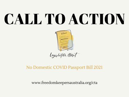 No Domestic COVID Vaccine Passports Bill 2021
