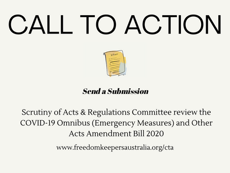 Send a submission - Scrutiny of Acts & Regulations Committee review the Covid19 Omnibus Bill