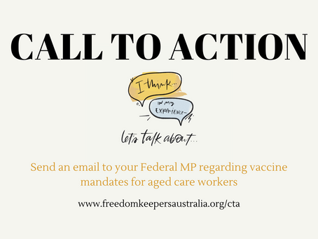 No to Vaccine Mandates for the Aged Care Sector