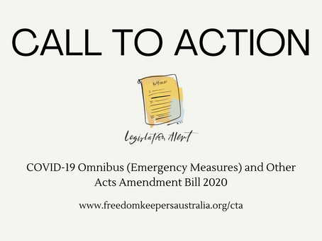 COVID-19 Omnibus (Emergency Measures) and Other Acts Amendment Bill 2020