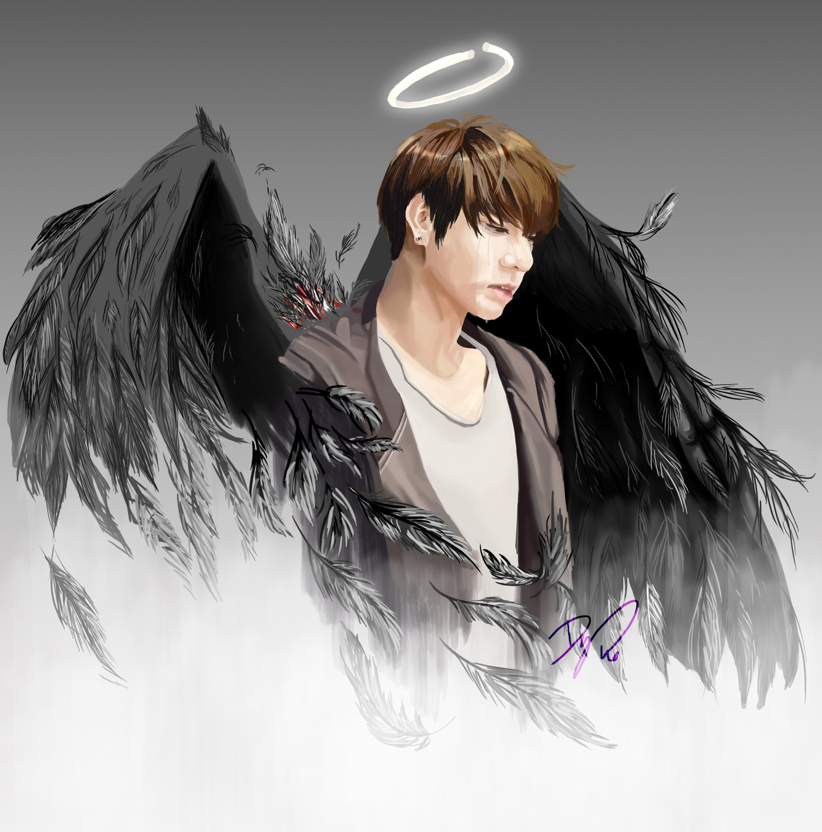 [BTS] Fallen Angel Jungkook_No wound