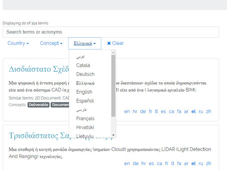 BIM Dictionary is available in Greek