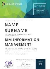 BIM Design Hub CPD Certificate