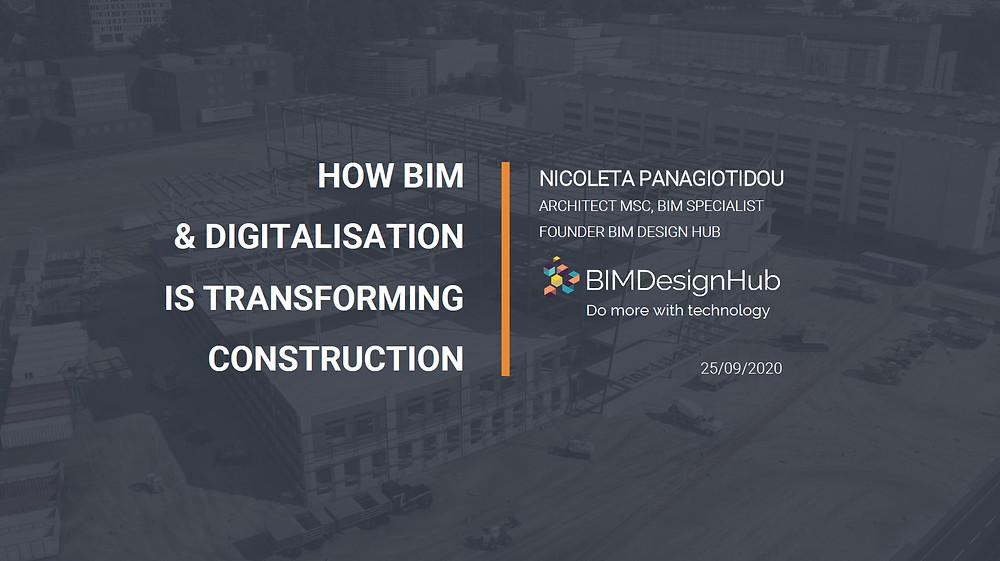 BIM online conference, 2020, Keynote speaker, Panagiotidou Nicoleta