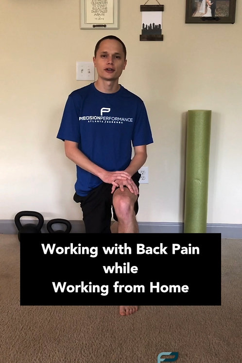 Back pain from sitting at home!