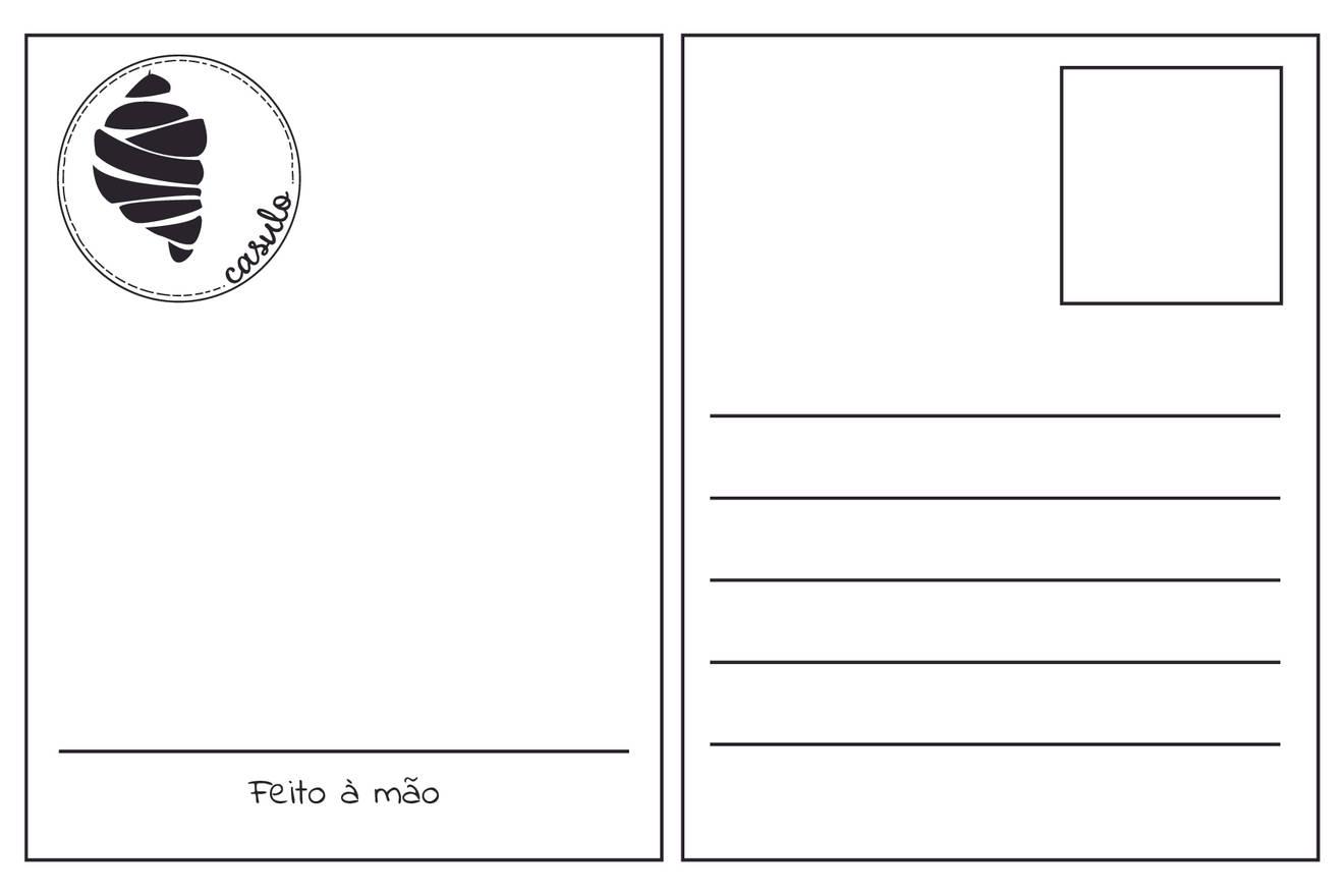 Cartão postal Caasulo. (costas)