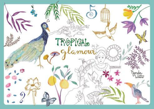 home dec_tropical glamour