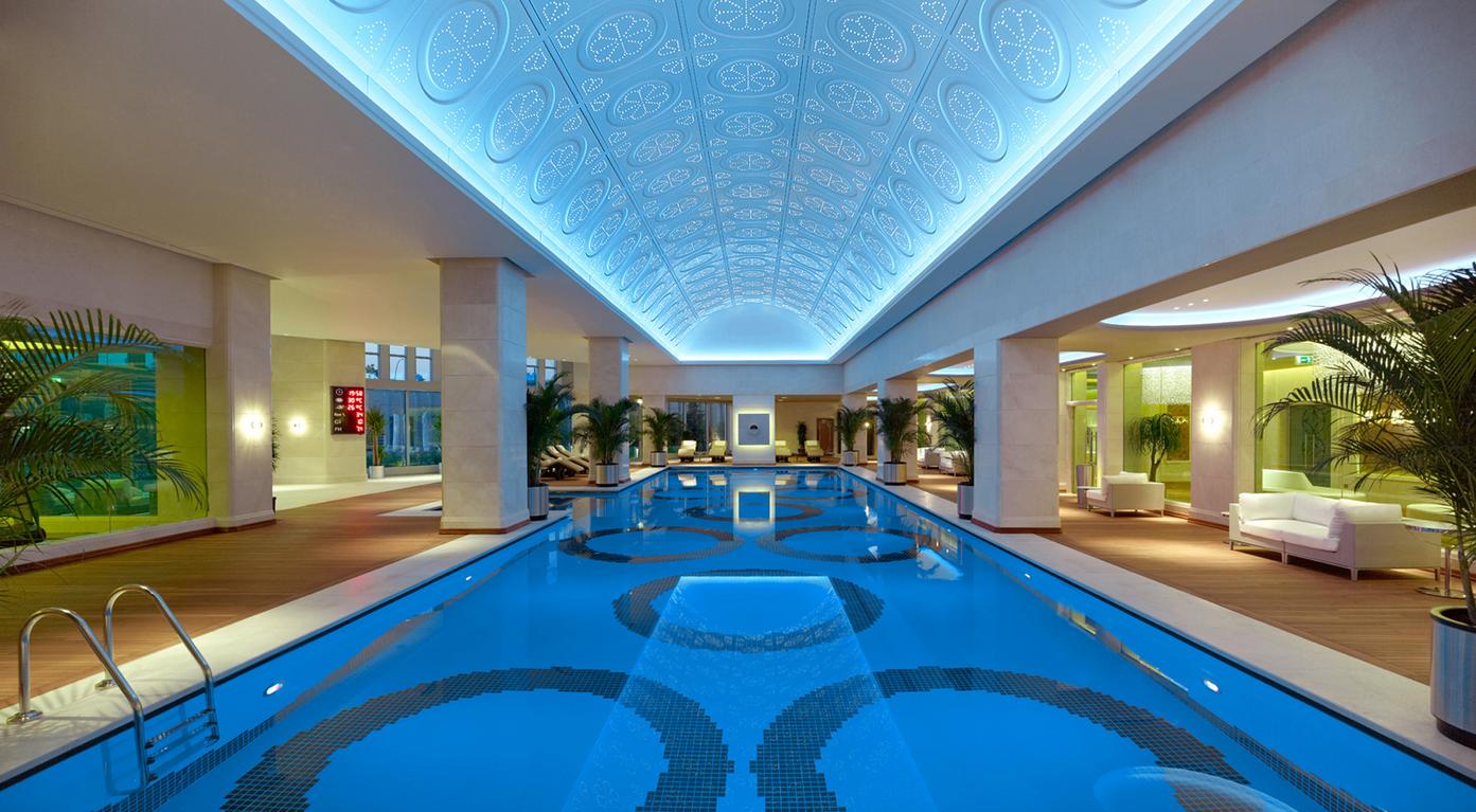 LED lighting swimming pool in spa