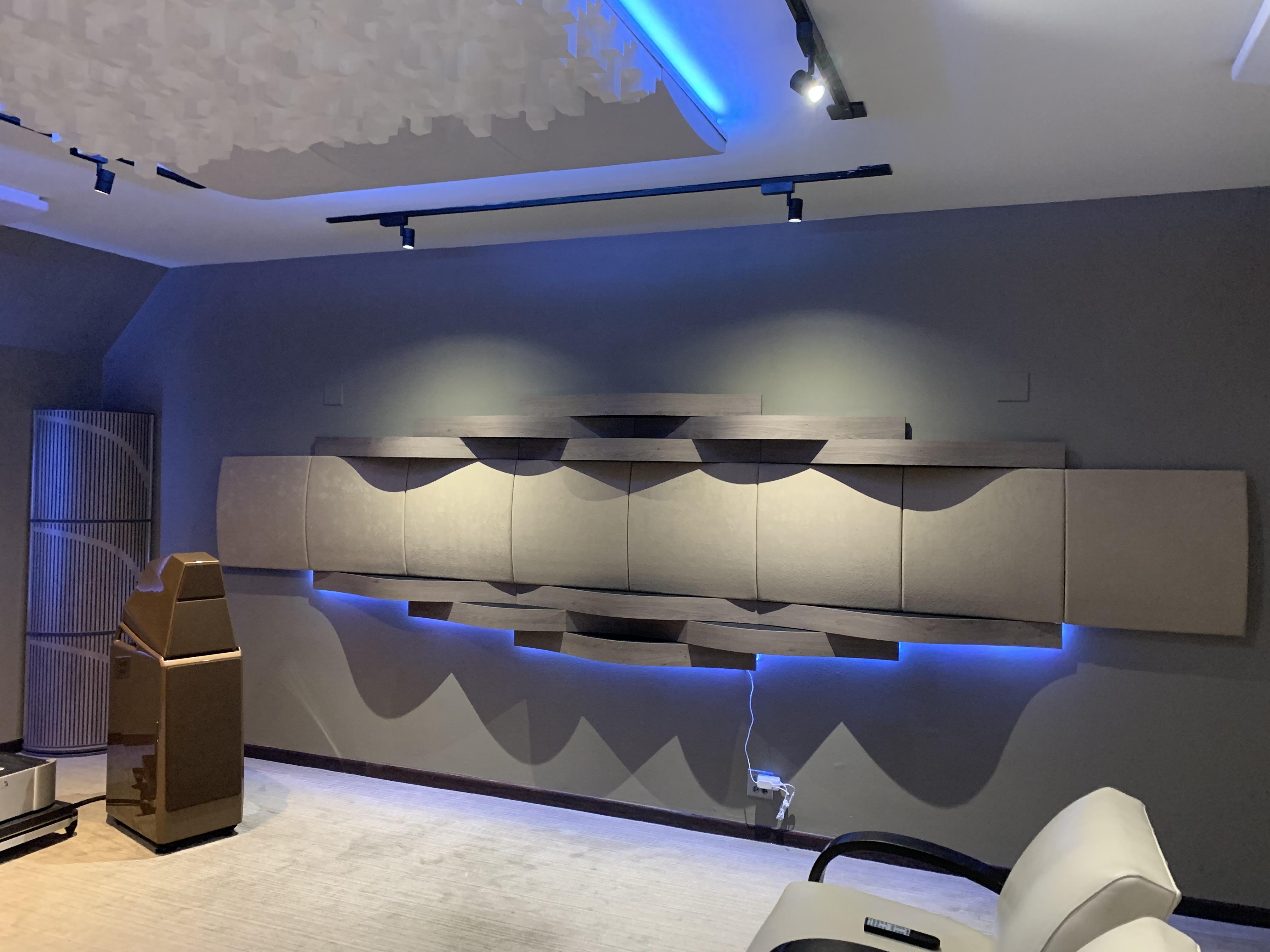 Q Audio side wall Acoustic treatments