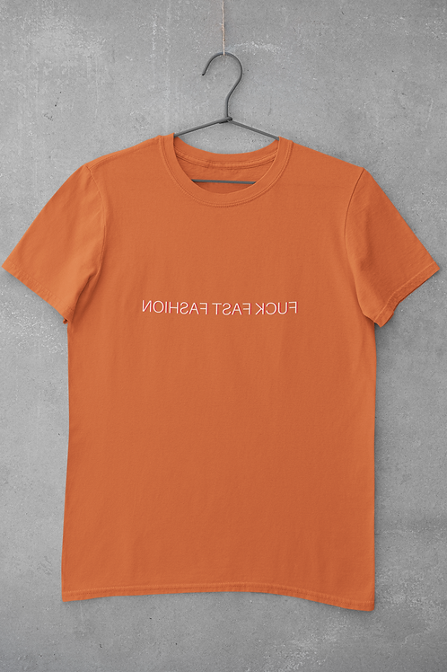 Fuck Fast Fashion T-shirt in Orange