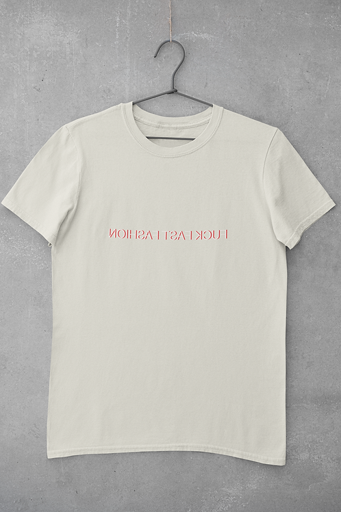 Fuck Fast Fashion T-shirt in Natural
