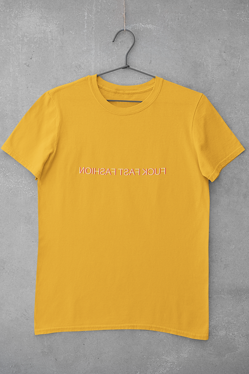 Fuck Fast Fashion T-Shirt in Yellow
