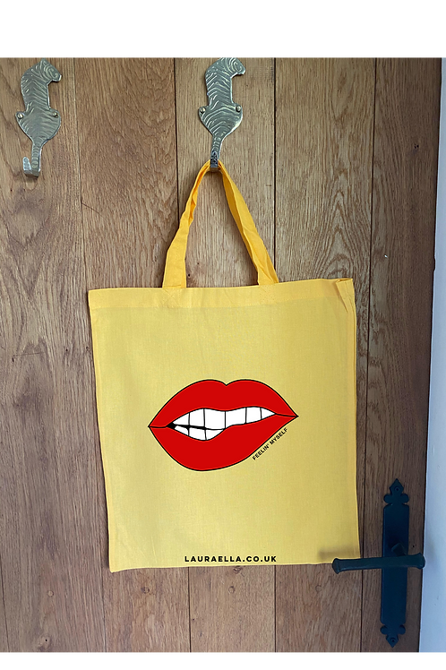 Feelin' Myself Tote Bag in Mustard