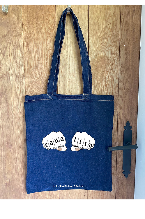 Equality Tote Bag in Blue Denim