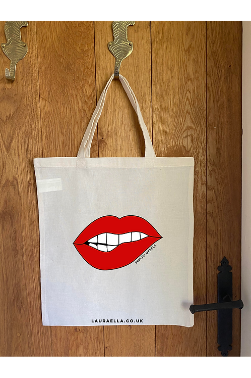 Feelin' Myself Tote Bag in Natural