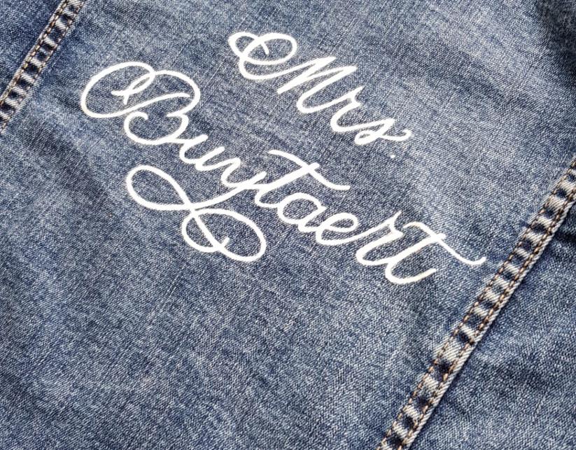 gepersonaliseerd jeansjasje
