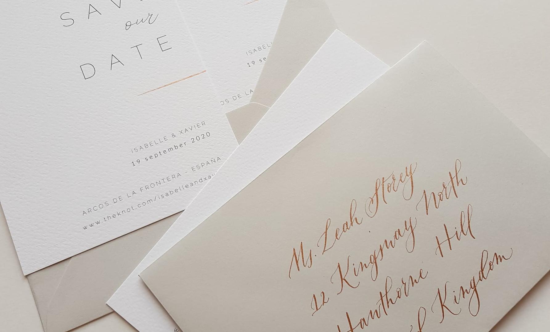 gekalligrafeerde enveloppe