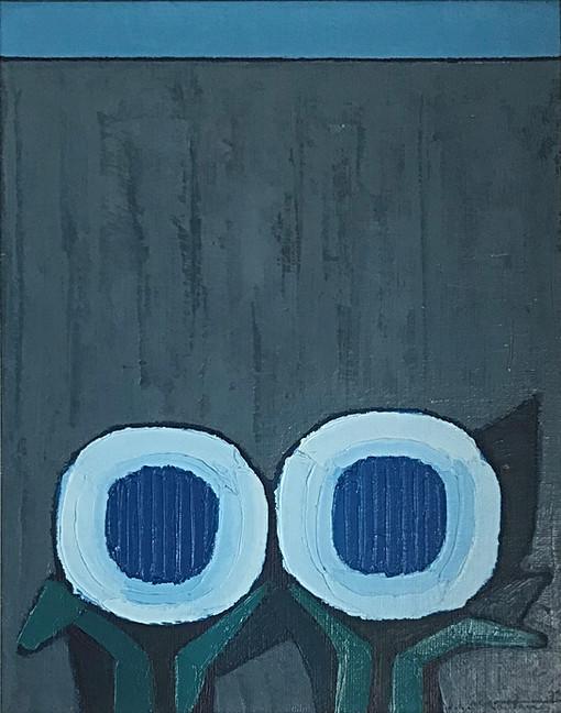 """""""Fiori azzurri sul muro grigio"""""""